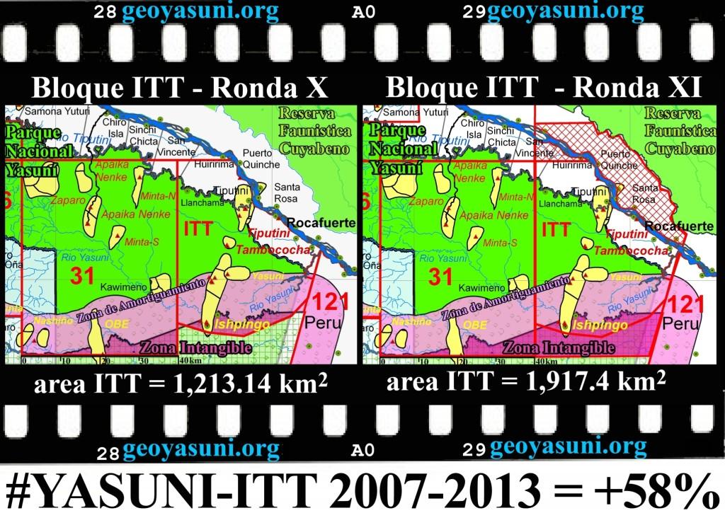 Cambio de las dimensiones y funciones del bloque ITT
