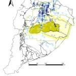 Densidad de los pozos a nivel de Region Amazonica Ecuatoriana
