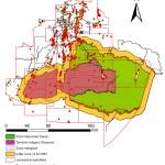 Parque Nacional Yasuní, Reserva Indígena Waorani y Zona Intangible: dimensión de la producción hidrocarburíferas (Bloques, pozos, oleoductos). (Pappalardo, 2009)