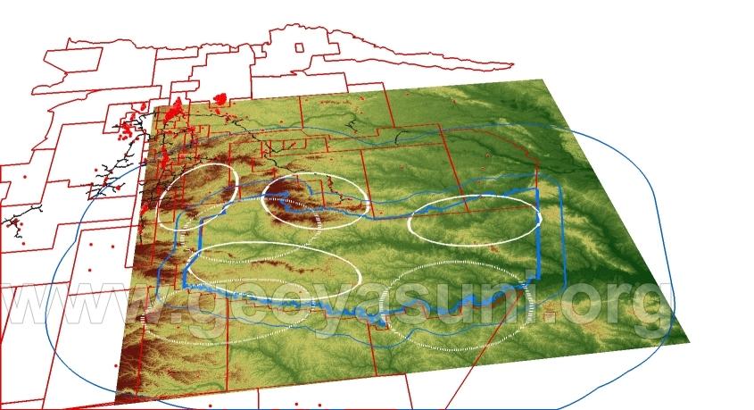 Mapa tridimensional de la Zona Intangible Tagaeri Taromenane