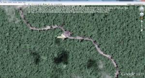 Km 4 de la carretera desde el muelle Sur en el Rio Tiputini