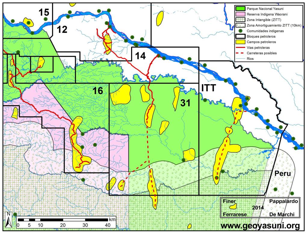 Nuevas vias petroleras en el Parque Nacional Yasuni