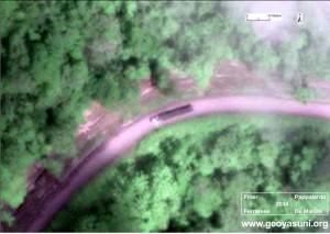 Vehículos identificados a lo largo de la ruta fuera del parque